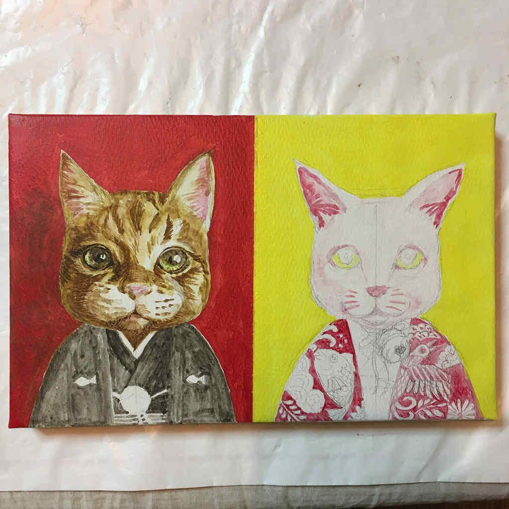 cats-wedding*kimono