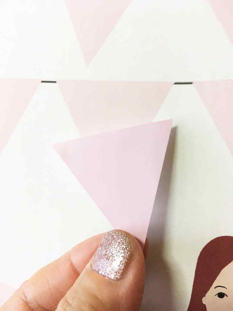 三角旗のウェディングツリー