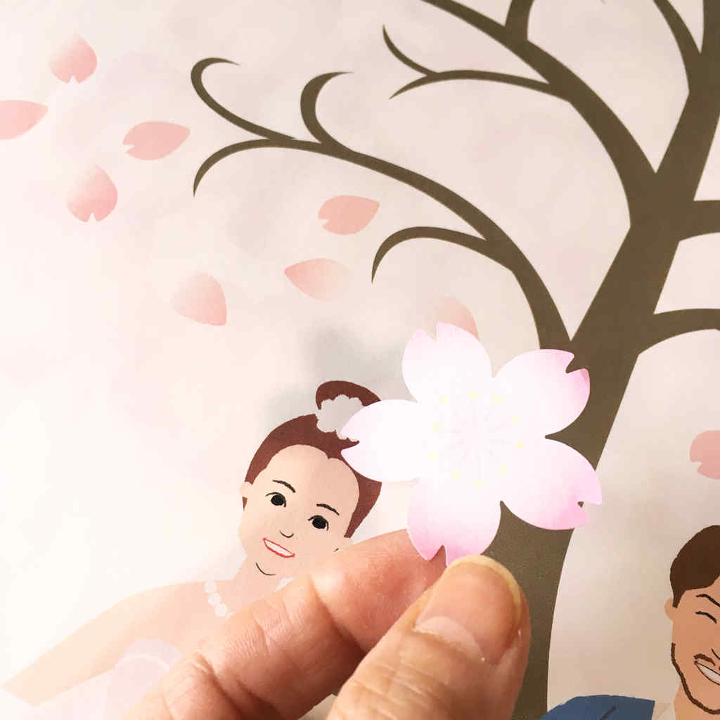 桜の花ウェディングツリー